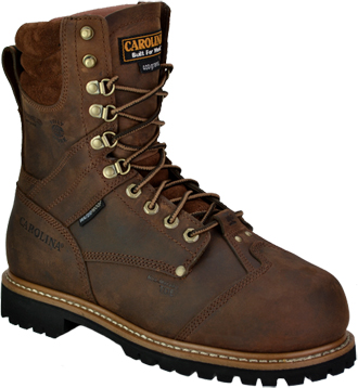 "Men's Carolina 8"" Composite Toe Metguard WP/Insulated Logger Boot CA7921"
