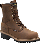 "Men's Carolina 8"" Steel Toe WP/Insulated Logger Work Boot CA5821"