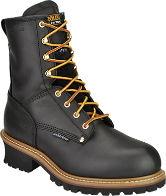 "Men's Carolina 8"" Steel Toe WP/Insulated Logger Work Boot CA5823"