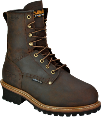 "Men's Carolina 8"" Steel Toe Metguard WP/Insulated Logger Work Boot CA7821"
