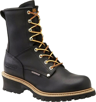 "Men's Carolina 8"" Steel Toe WP Logger Work Boot CA9823"