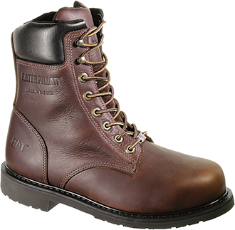 "Men's Caterpillar 8"" Steel Toe Work Boot (U.S.A.) P90239"