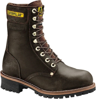 "Men's Caterpillar 9"" Steel Toe Logger Work Boot P88034"