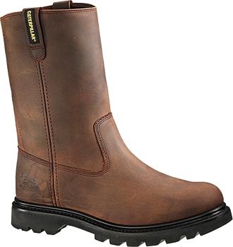 """Men's Caterpillar 10"""" Steel Toe Wellington Work Boot P89516"""