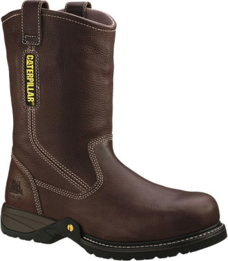 "Men's Caterpillar 10"" Steel Toe Wellington Work Boot P89726"