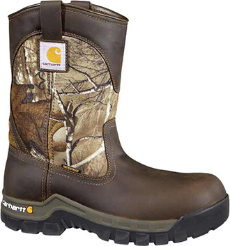 "Men's Carhartt 10"" Composite Toe WP Wellington Work Boot CMF1375"