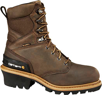 "Men's Carhartt 8"" Composite Toe WP/Insulated Logger Work Boot CML8369"