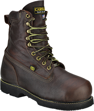 "Men's Carolina 8"" Steel Toe Metguard Work Boot (U.S.A.) CA510"