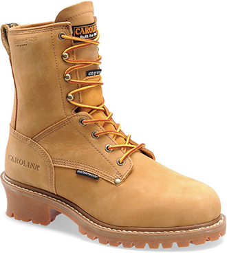 "Men's Carolina 8"" Steel Toe WP/Insulated Logger Work Boot CA5826"