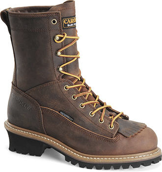 "Men's Carolina 8"" Steel Toe WP Logger Work Boot CA9824"