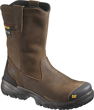 "Men's Caterpillar 9"" Steel Toe Wellington Work Boots P90204"
