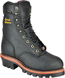"Men's Chippewa Boots 9"" Steel Toe WP/Insulated Logger Work Boot (U.S.A.) 25410"