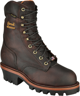"Men's Chippewa Boots 9"" Steel Toe WP/Insulated Super Logger Work Boot (U.S.A.) 25420"