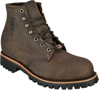 "Men's Chippewa Boots 6"" Steel Toe Work Boot (U.S.A.) 20081"