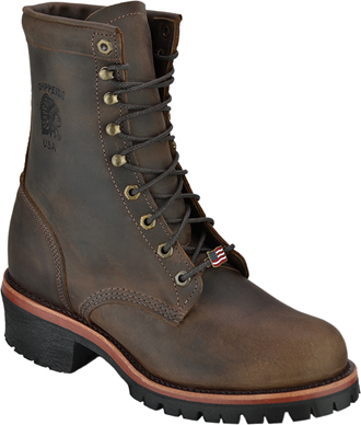 "Men's Chippewa Boots 8"" Steel Toe Work Boot (U.S.A.) 20091"