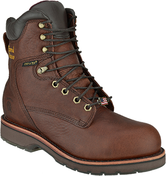 "Men's Chippewa Boots 8"" Steel Toe WP Work Boot (U.S.A.) 25227"
