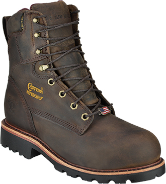 "Men's Chippewa Boots 8"" Steel Toe WP/Insulated Work Boot (U.S.A.) 26330"
