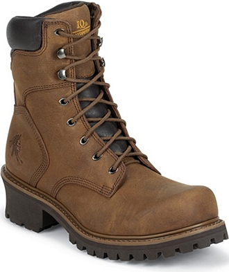 "Men's Chippewa Boots 8"" Steel Toe Insulated Logger Work Boot 55025"