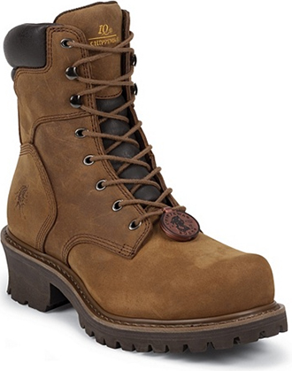 "Men's Chippewa Boots 8"" Steel Toe Logger Work Boot 55026"