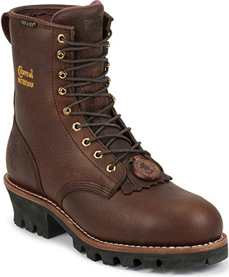 "Men's Chippewa Boots 8"" Steel Toe WP/Insulated Logger Work Boot 73060"