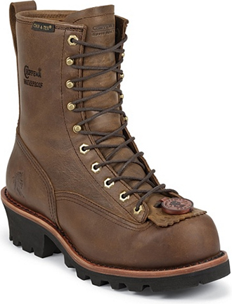 "Men's Chippewa Boots 8"" Steel Toe WP/Insulated Logger Work Boot 73103"