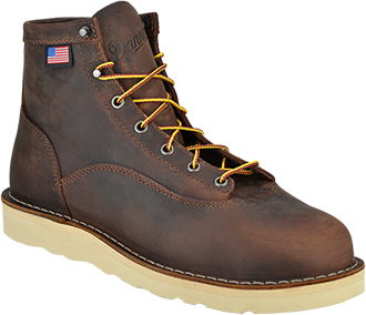 "Men's Danner 6"" Steel Toe Wedge Sole Work Boots 15554"