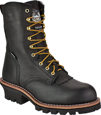 "Men's Georgia Boot 8"" Steel Toe WP/Insulated Logger Work Boot G9380"