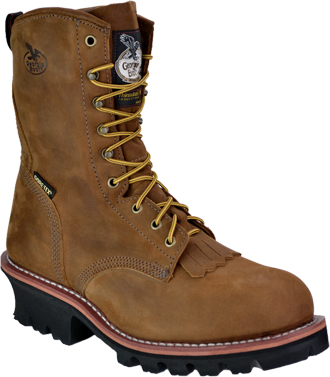 "Men's Georgia Boot 8"" Steel Toe WP/Insulated Logger Work Boot G9382"