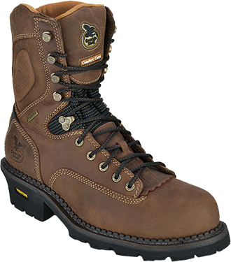 "Men's Georgia Boot 9"" Composite Toe WP Logger Work Boot G031"