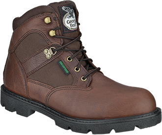 "Men's Georgia Boot 6"" Steel Toe WP Work Boot G105"