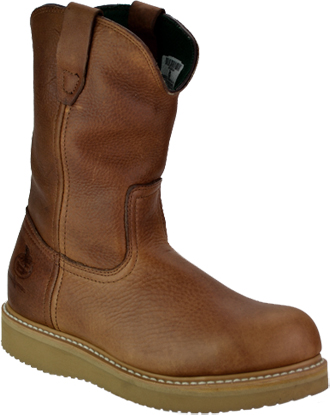 "Men's Georgia Boot 10"" Steel Toe Wedge Sole Wellington Work Boot G5353"