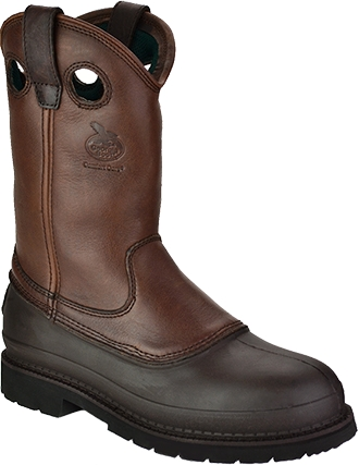 "Men's Georgia Boot 11"" Steel Toe Wellington Work Boot G5655"