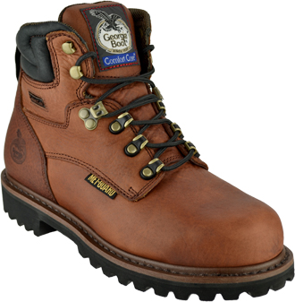 "Men's Georgia Boot 6"" Steel Toe Metguard Work Boot G6315"