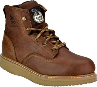 "Men's Georgia Boot 6"" Steel Toe Wedge Sole Work Boot G6342"