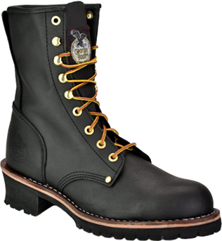 "Men's Georgia Boot 8"" Steel Toe Logger Work Boot G8320"