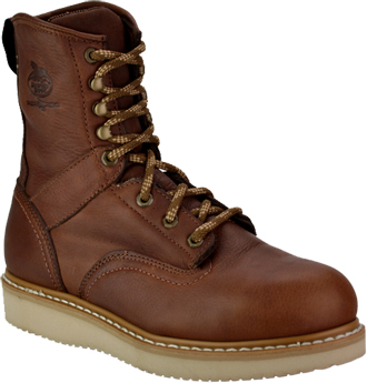 "Men's Georgia Boot 8"" Steel Toe Wedge Sole Work Boot G8342"