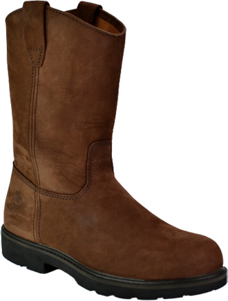 "Men's Georgia Boot 11"" Steel Toe Wellington Work Boot G4673"