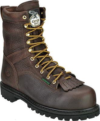 "Men's Georgia Boot 8"" Steel Toe WP Logger Work Boot G8341"