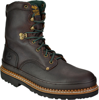 "Men's Georgia Boot 8"" Steel Toe Work Boot G8374"