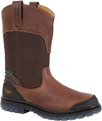 "Men's Georgia Boot 11"" Steel Toe WP Wellington Work Boot G093"