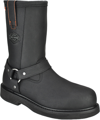 "Men's Harley Davidson 11"" Steel Toe Side-Zipper Wellington Work Boot D95328"