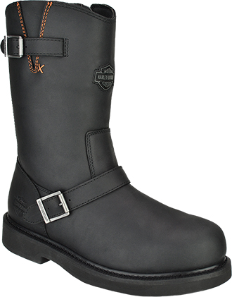 "Men's Harley Davidson 10"" Steel Toe Side-Zipper Wellington Work Boot D93120"