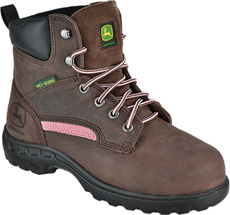 "Women's John Deere 6"" Steel Toe Metguard Work Boot JD3672"