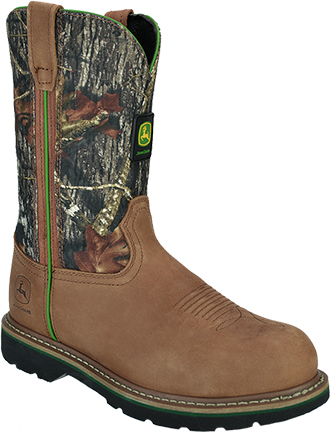 "Men's John Deere 11"" Steel Toe Wellington Work Boot JD4348"