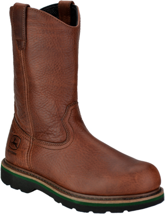 "Men's John Deere 11"" Steel Toe Wellington Work Boot JD4393"