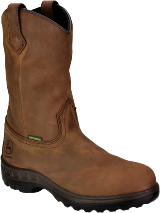 "Men's John Deere 12"" Steel Toe WP Wellington Work Boot JD4604"