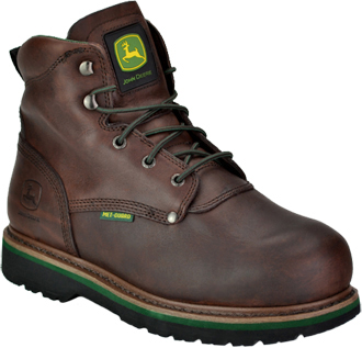 "Men's John Deere 6"" Steel Toe Metguard Work Boot JD6373"