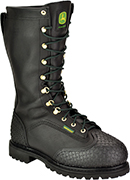 "Men's John Deere 12"" Steel Toe Metguard Miner WP/Insulated Boot JD9300"