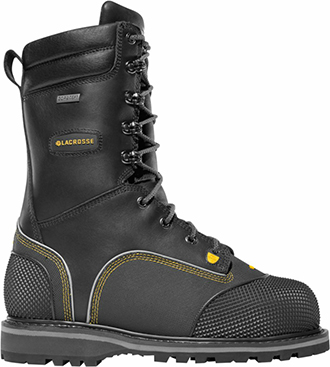 "Men's LaCrosse 10"" Composite Toe Metguard Miner WP/Insulated Work Boot 00553054"