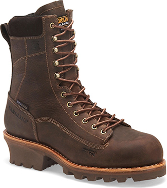 "Men's Carolina 8"" Composite Toe WP/Insulated Logger Work Boot CA7521"